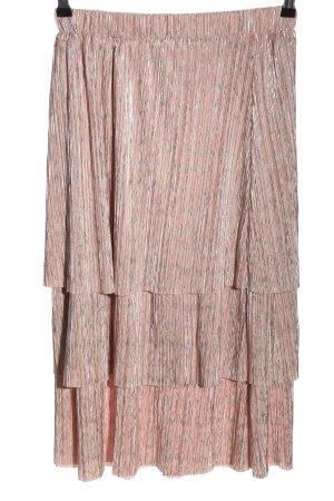 Modström Midirock pink Streifenmuster Elegant