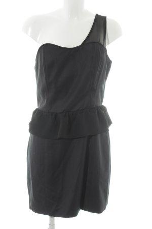 Modström Vestido de un hombro negro elegante