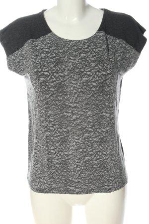Modström Schlupf-Bluse hellgrau-schwarz abstraktes Muster Casual-Look