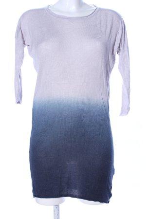 Modström Strickkleid hellgrau-blau Farbverlauf Casual-Look
