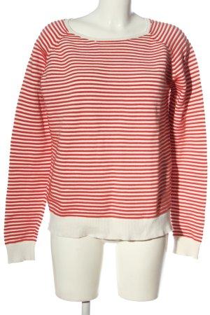 Modström Jersey de punto rojo-blanco estampado a rayas look casual