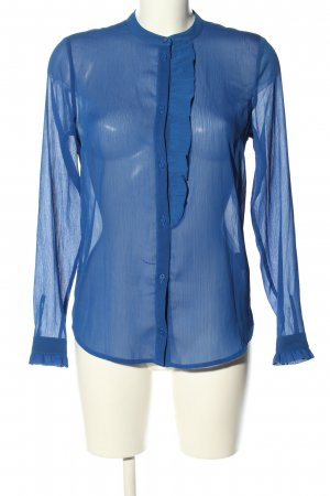 Modström Transparenz-Bluse blau Elegant
