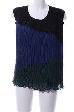 Modström Transparenz-Bluse schwarz-blau Farbverlauf Casual-Look