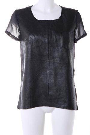 Modström Transparenz-Bluse schwarz extravaganter Stil