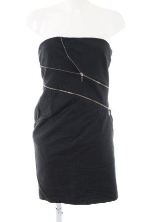 Mötivi Vestido bustier negro elegante