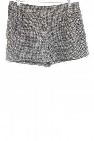 Mötivi Hot Pants schwarz-weiß Allover-Druck Casual-Look