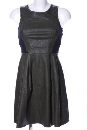 Mötivi Leren jurk khaki-blauw casual uitstraling