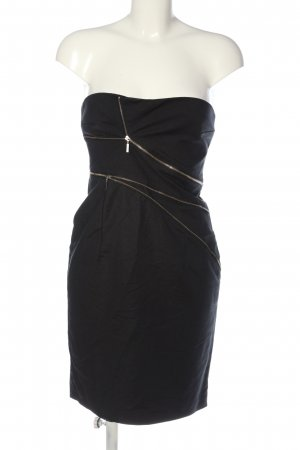 Mötivi schulterfreies Kleid schwarz extravaganter Stil