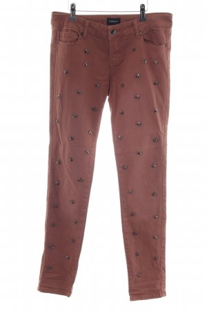 Mötivi Skinny Jeans bronzefarben Casual-Look