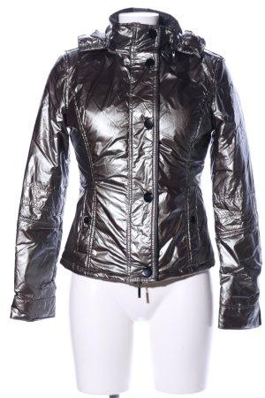 Mötivi Quilted Jacket black wet-look