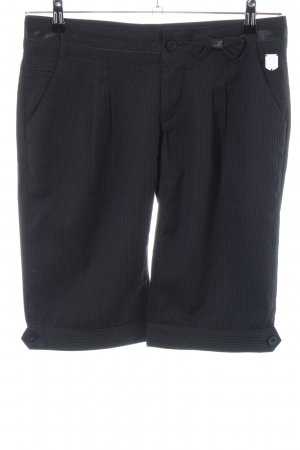 Mogul Anzughose schwarz Streifenmuster Business-Look