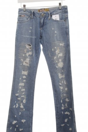 Mogul Boot Cut Jeans himmelblau Logo-Applikation
