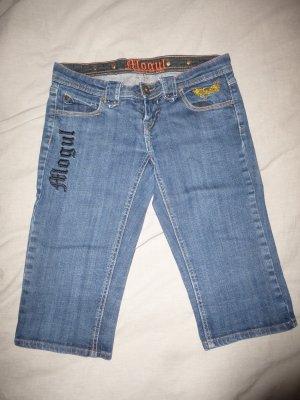 Mogul Jeans a 3/4 blu neon Cotone