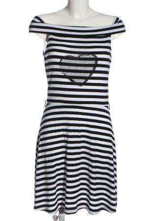 Mogul Minikleid schwarz-weiß Motivdruck Casual-Look