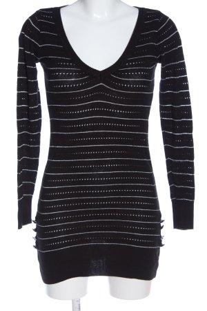 Mogul Pulloverkleid schwarz-weiß Punktemuster Casual-Look