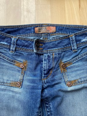 Mogul Jeansowe spodnie dzwony błękitny