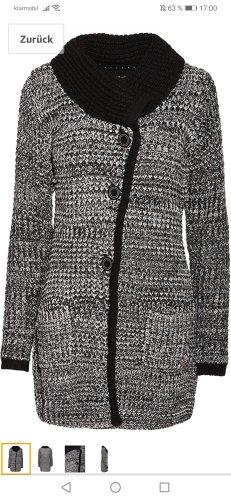 Mogul Veste tricotée en grosses mailles blanc-noir