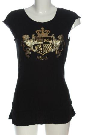 Mogul T-shirt nero Stampa a tema stile casual