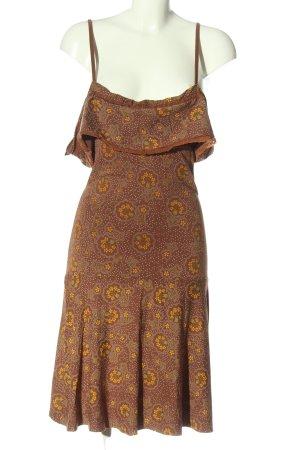 Mogul Abito scamiciato marrone-arancione chiaro stampa integrale stile casual