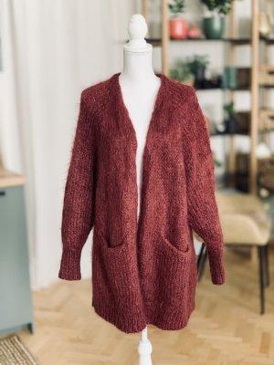 H&M Giacca di lana rosso scuro