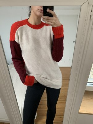 Mohair/Wolle/Tierhaar Pullover H&m oversize rot beige S