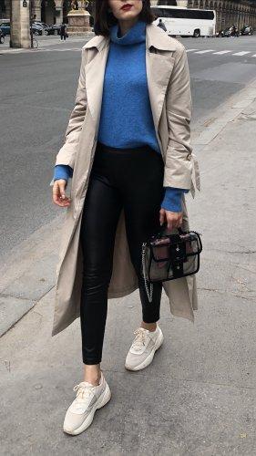 H&M Pull en laine bleuet mohair