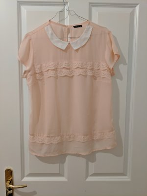 Mohito Short Sleeved Blouse pink polyester