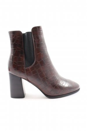 Mohito Booties braun Animalmuster Business-Look