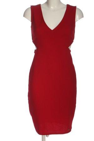 Mohito Vestido cut out rojo elegante