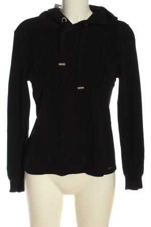Mohito Maglione con cappuccio nero stile casual