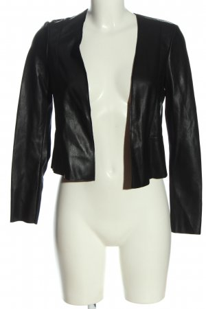 Mohito Faux Leather Jacket black casual look