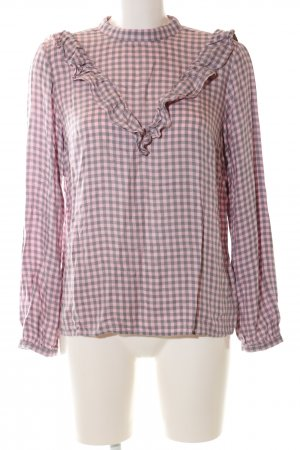 Mohito Langarm-Bluse pink-schwarz Allover-Druck Casual-Look