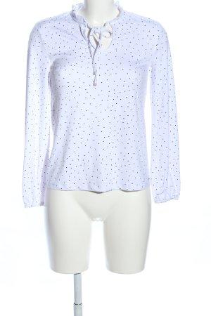 Mohito Blusa de cuello alto blanco-negro estampado a lunares look casual