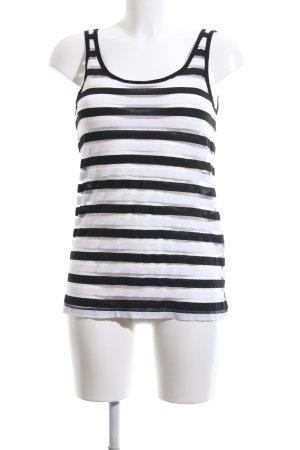 Mohito Trägertop schwarz-weiß Streifenmuster Casual-Look
