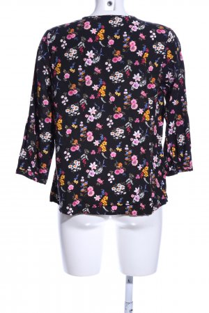 Mohito Tunikabluse schwarz-pink Allover-Druck Casual-Look