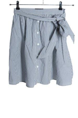 Mohito Volanten rok blauw-wit gestreept patroon casual uitstraling