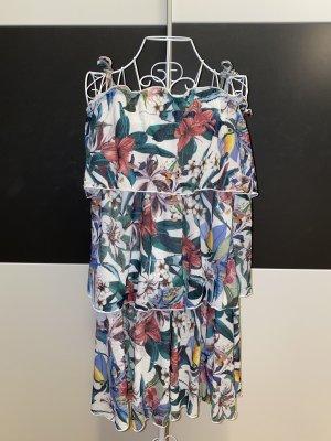 Mohito weißes Trägerkleid mit Blumenmuster in XXS