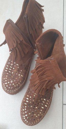 studio W Krótkie buty złoto-brązowy
