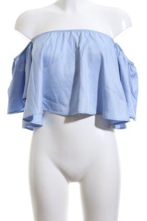 Blouse Carmen bleu style décontracté