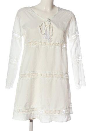 MOKINGTOP Blusa larga blanco puro look casual