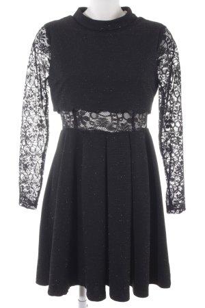 Molly bracken A-Linien Kleid schwarz-silberfarben Elegant