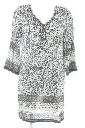 Molly bracken Blusenkleid schwarz-weiß abstraktes Muster Metallelemente