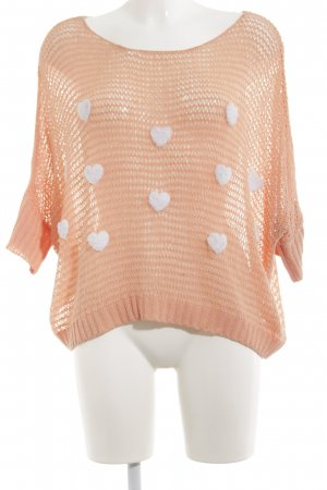 Molly bracken Crochet Shirt nude-white abstract pattern casual look