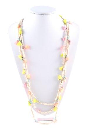 Molly bracken Naszyjnik z perłami biały-bladożółty W stylu casual