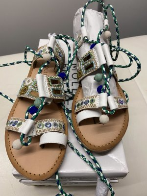 Molly bracken Roman Sandals white-green