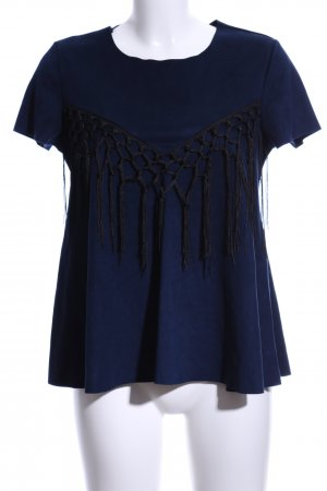 Molly bracken T-Shirt dunkelblau-schwarz Business-Look