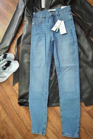 Gina Tricot High Waist Jeans steel blue cotton
