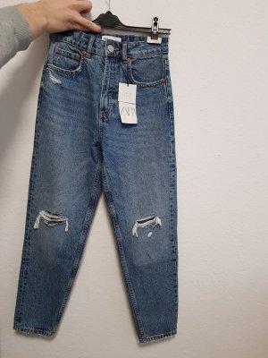 Mom Fit Jeans Zara 34 Xs