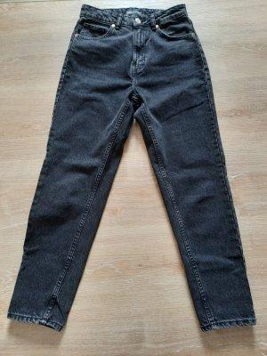 Mom-Fit-Jeans Zara, dunkelgrau, Gr. 36