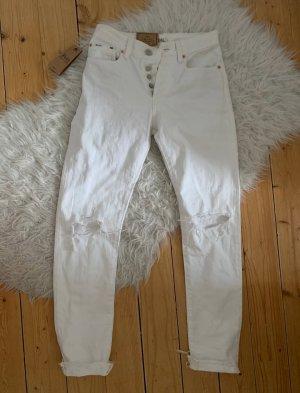 Ralph Lauren Jeansy z wysokim stanem biały